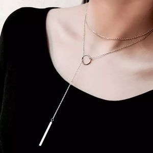 3for 25 sterling silver long chain necklace